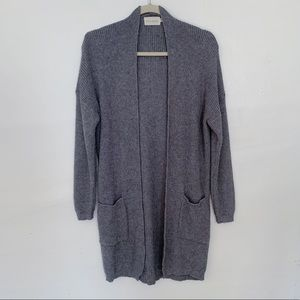 Nordstrom Grey Knit Oversized Long Cardigan